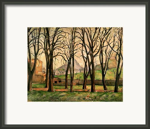 Chestnut Trees At The Jas De Bouffan Framed Print By Paul Cezanne