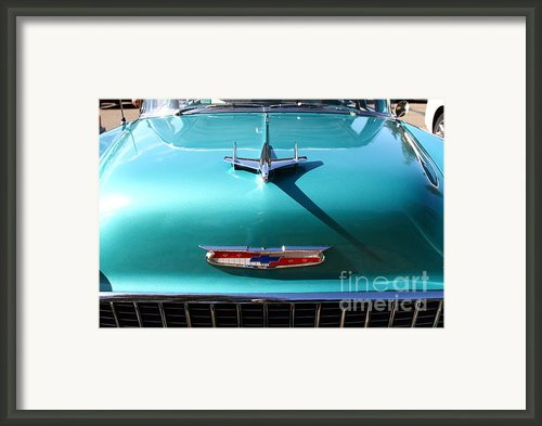 Chevrolet Bel-air . Blue . 7d12850 Framed Print By Wingsdomain Art And Photography