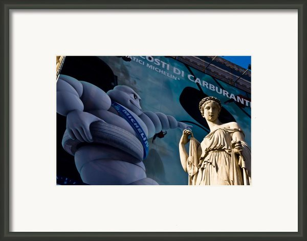 Chewy Marble Framed Print By Luigi Montebello