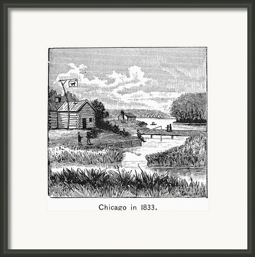 Chicago, 1833 Framed Print By Granger