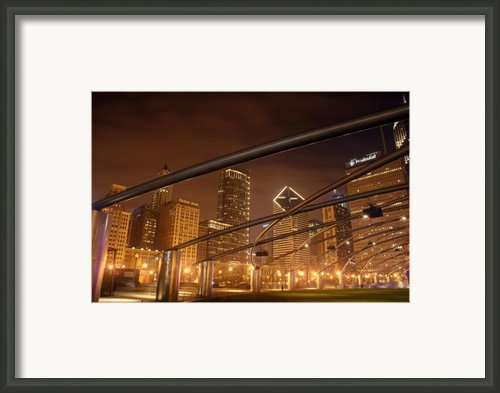 Chicago At Night Framed Print By Andreas Freund