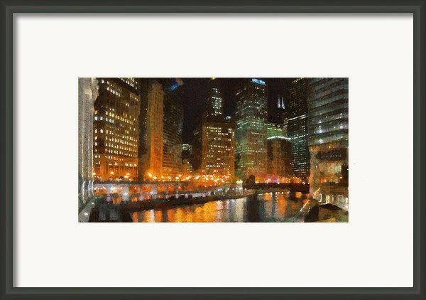 Chicago At Night Framed Print By Jeff Kolker