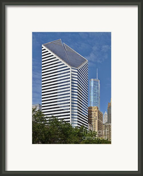 Chicago Crain Communications Building - Former Smurfit-stone Framed Print By Christine Till