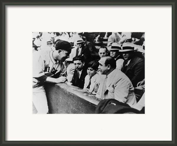 Chicago Cubs Player Gabby Hartnett Framed Print By Everett
