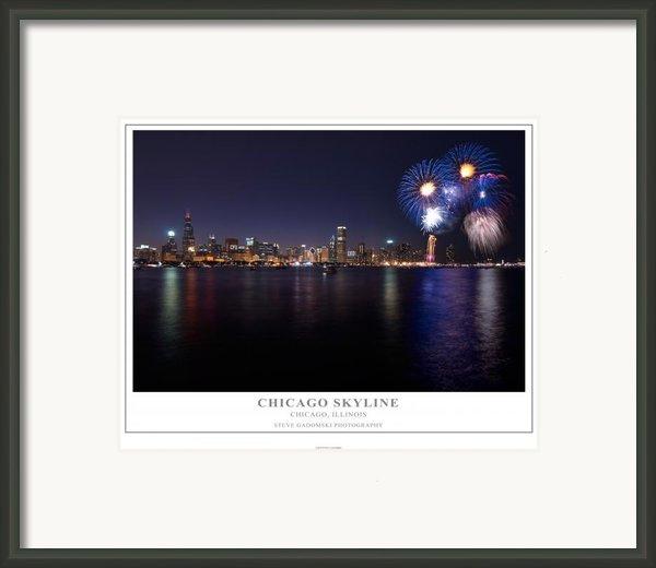 Chicago Lakefront Skyline Poster Framed Print By Steve Gadomski