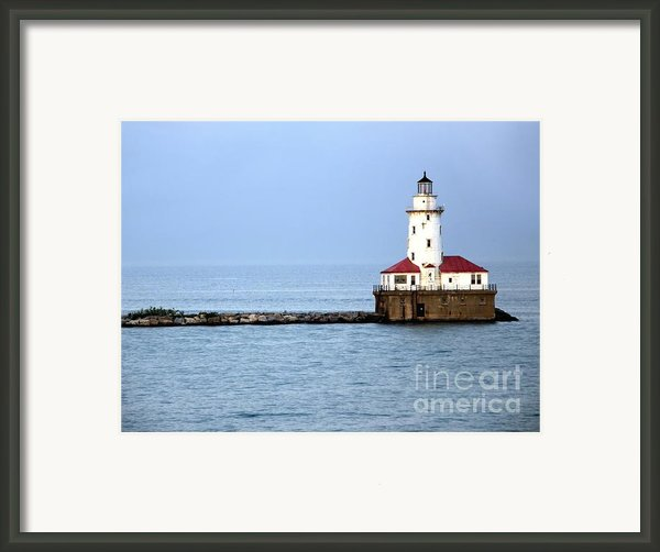 Chicago Lighthouse Framed Print By Sophie Vigneault