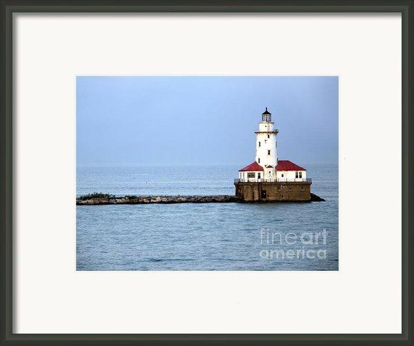 Chicago Lighthouse Framed Print By Sophie Vigneault