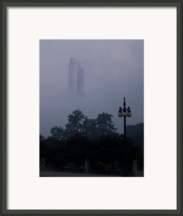 Chicago Mist Framed Print By Anna Villarreal Garbis