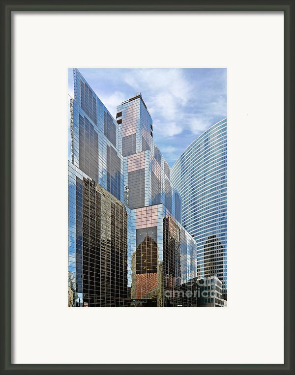 Chicago - One South Wacker And Hyatt Center Framed Print By Christine Till