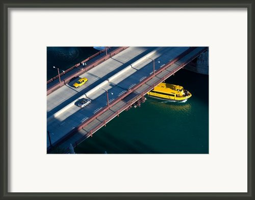 Chicago River Crossing Framed Print By Steve Gadomski