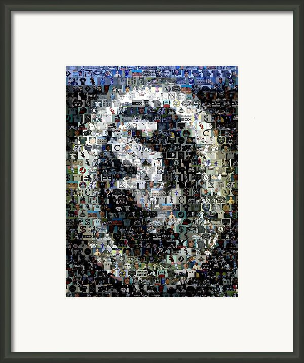 Chicago White Sox Ring Mosaic Framed Print By Paul Van Scott