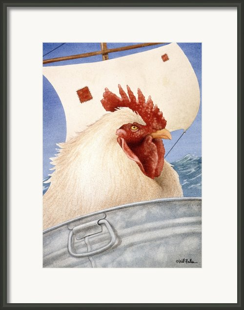 Chicken Ship... Framed Print By Will Bullas