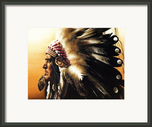 Chief Framed Print By Greg Olsen