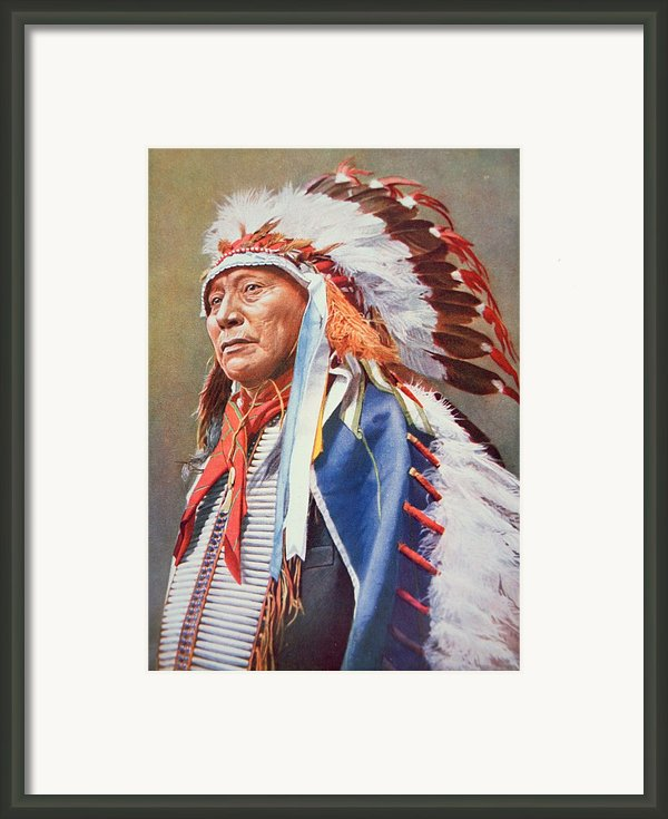 Chief Hollow Horn Bear Framed Print By American School