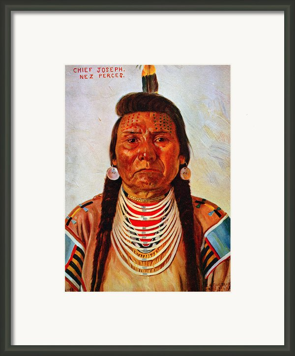Chief Joseph, Nez Perc� Chief Framed Print By Everett