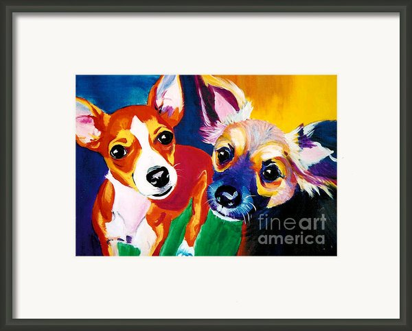 Chihuahua - Dos Perros Framed Print By Alicia Vannoy Call