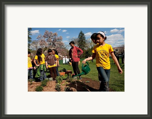Children From Bancroft Elementary Framed Print By Everett