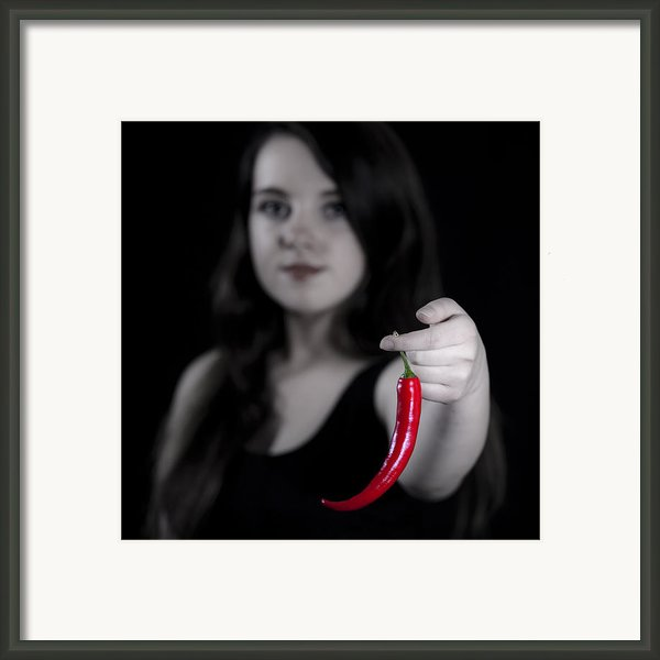 Chillies Framed Print By Joana Kruse