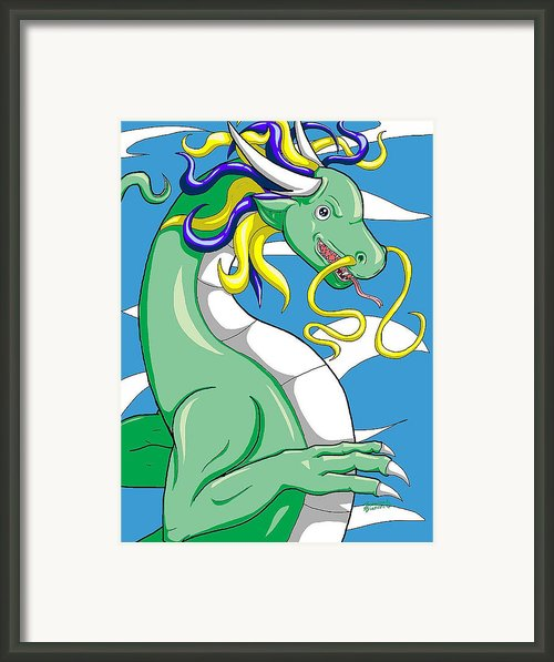 Chinese Dragon European Style Version1 Framed Print By Sabrina Bianchi