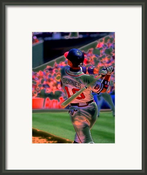 Chipper Jones Framed Print By Rod Kaye