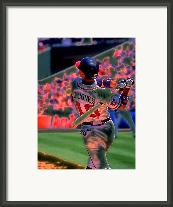Chipper Jones Framed Print By Rod Kaye