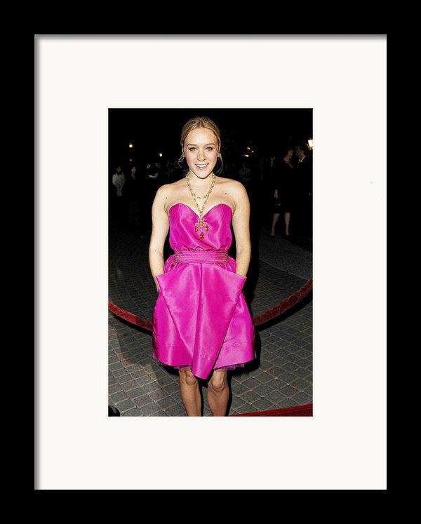 Chloe Sevigny Wearing A Luella Dress Framed Print By Everett