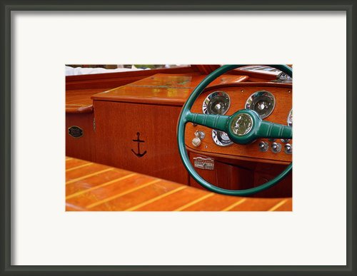 Chris Craft Cockpit Framed Print By Michelle Calkins
