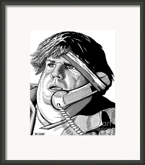 Chris Farley Framed Print By Dan Lockaby
