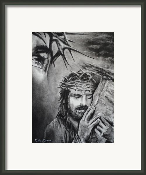 Christ Framed Print By Carla Carson