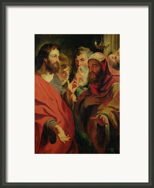 Christ Instructing Nicodemus Framed Print By Jacob Jordaens