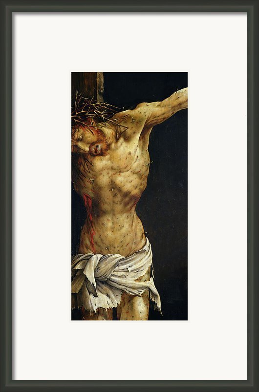 Christ On The Cross Framed Print By Matthias Grunewald