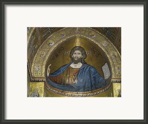 Christ Pantocrator Framed Print By Erik Falkensteen