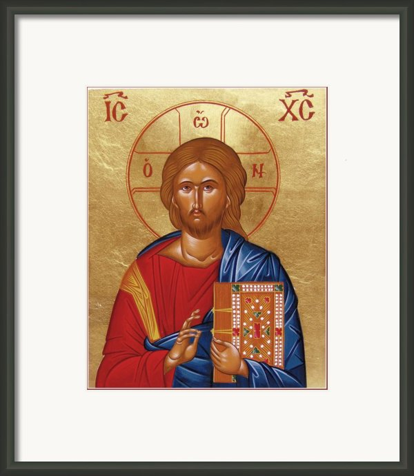 Christ Pantokrator Framed Print By Julia Bridget Hayes
