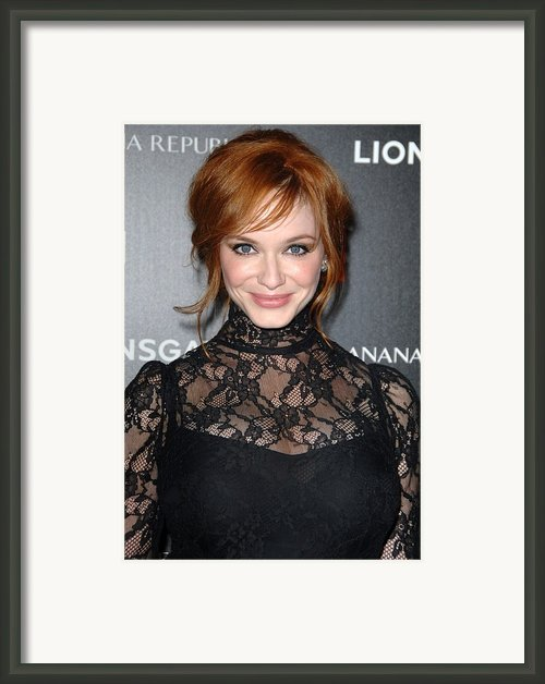 Christina Hendricks Wearing A Dolce & Framed Print By Everett