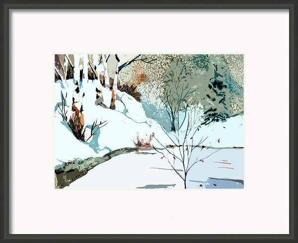 Christmas Crisp Framed Print By Mindy Newman