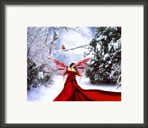 Christmas Eve Angel Framed Print By Jai Johnson