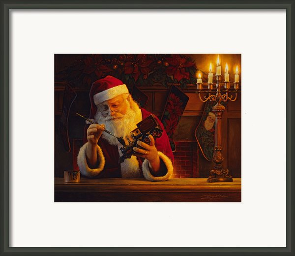 Christmas Eve Touch Up Framed Print By Greg Olsen