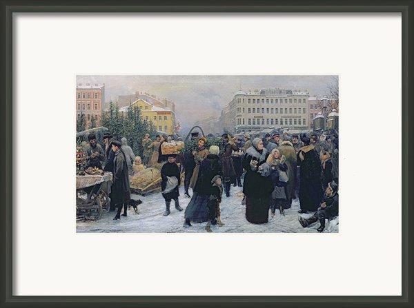 Christmas Fair  Framed Print By Heinrich Matvejevich Maniser