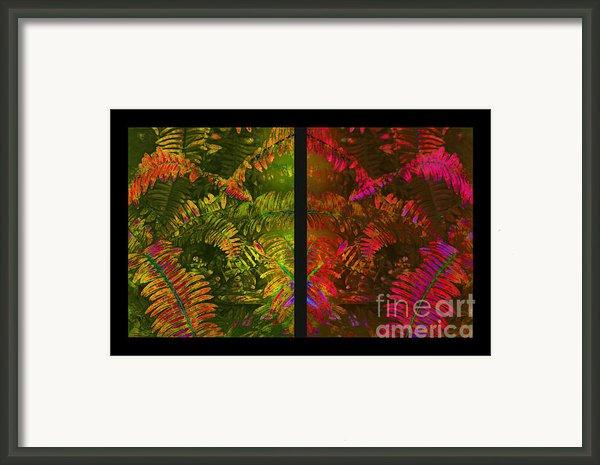 Christmas Fern Diptych Framed Print By Judi Bagwell