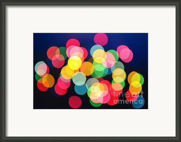 Christmas Lights Abstract Framed Print By Elena Elisseeva