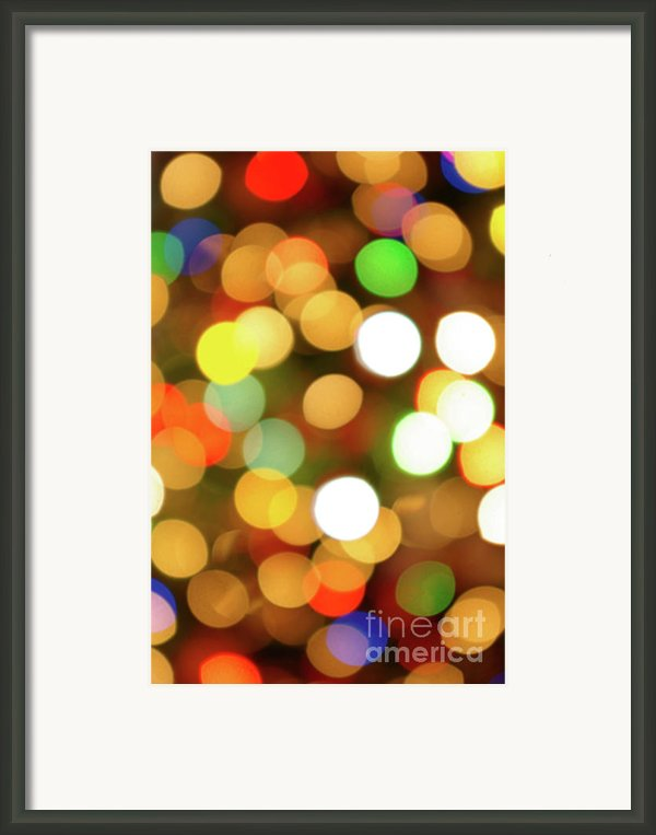 Christmas Lights Framed Print By Carlos Caetano