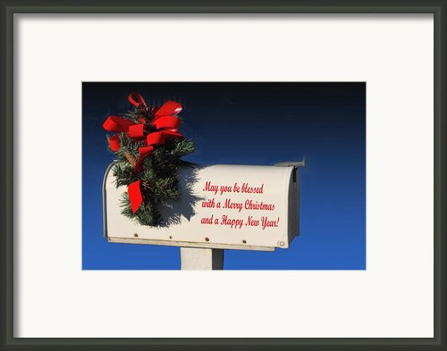 Christmas Mail Box Framed Print By Linda Phelps