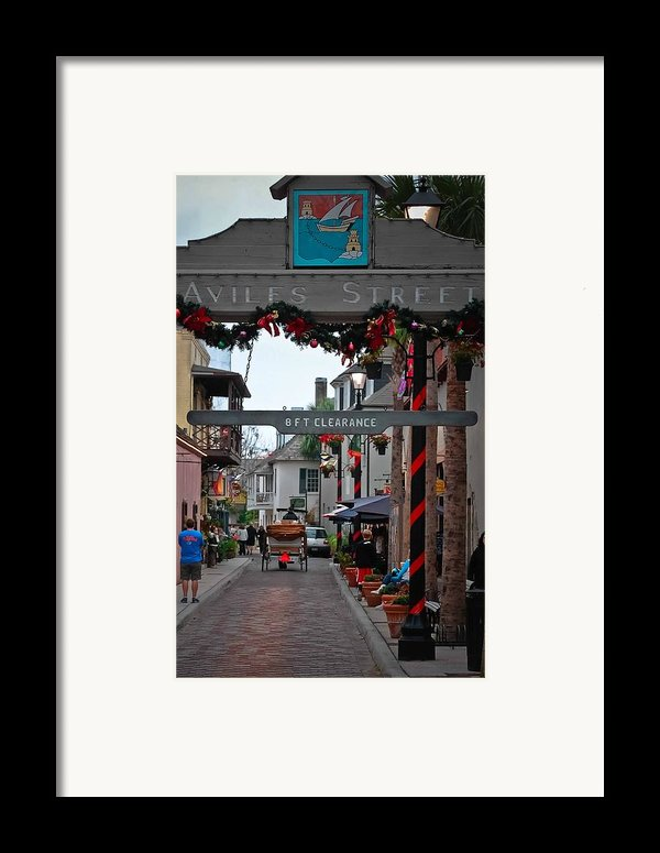 Christmas On Aviles Street Framed Print By Digiart Diaries By Vicky B Fuller