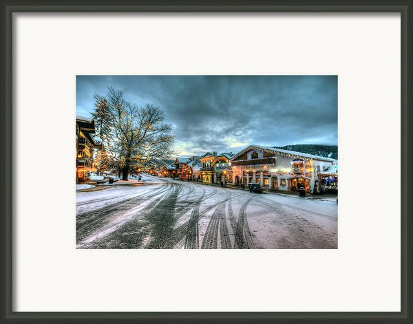 Christmas On Main Street Framed Print By Brad Granger
