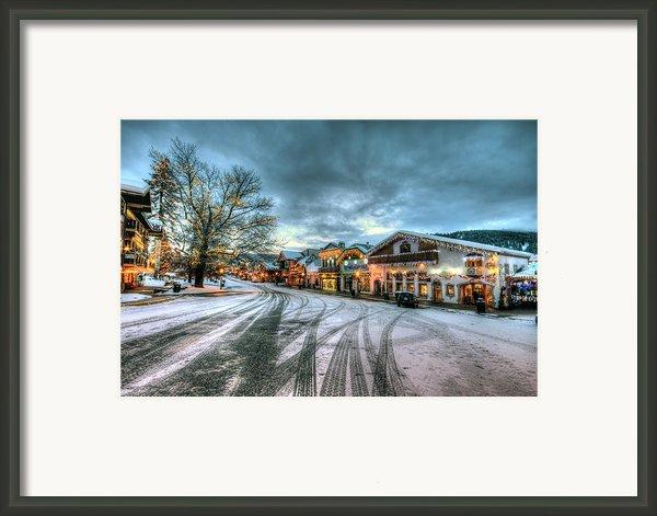 Christmas On Main Street Framed Print By Brad Granger