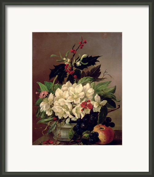 Christmas Roses Framed Print By Willem Van Leen