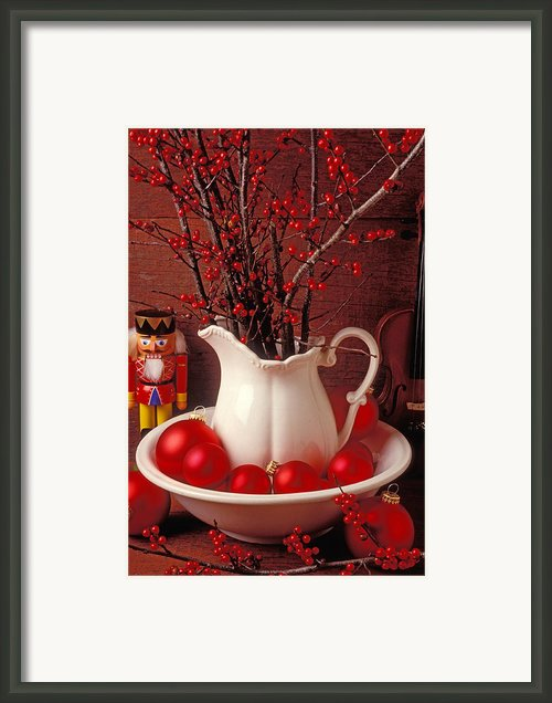 Christmas Still Life Framed Print By Garry Gay