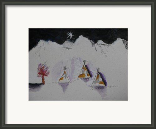 Christmas Teepees Framed Print By James Sheppardiii