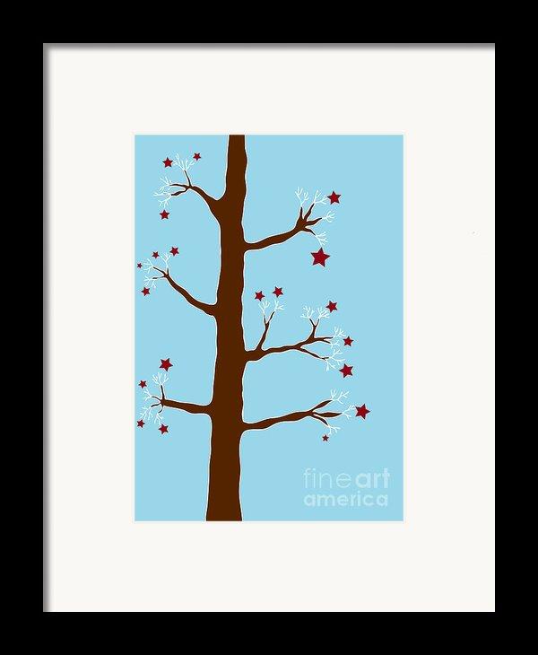 Christmas Tree Framed Print By Frank Tschakert