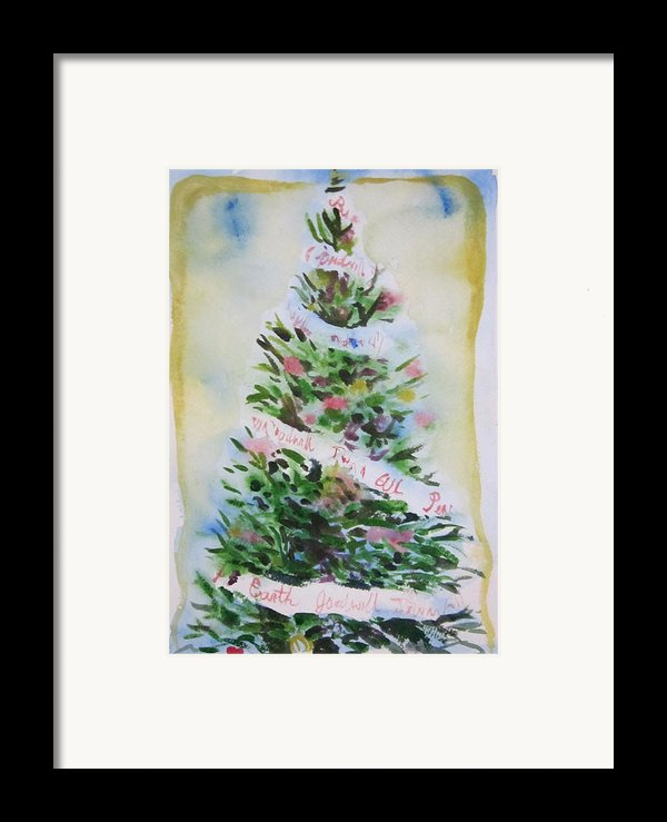 Christmas Tree Framed Print By Tilly Strauss